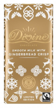 Divine Fairtrade Milk Chocolate Gingerbread Crisp 90g